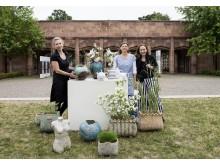 Keramikmarkt Leipzig im GRASSI - Franziska M. Köllner, Jana Heistermann und Gabriela Roth-Budig (v.l.) präsentieren ihre Werke