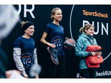 Die drei Siegerinnen über 10km: Anna Herzberg, Franziska Rachowski und Anna Baum.