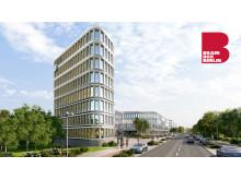 ZÜBLIN BRAIN BOX BERLIN Frontalansicht Turm