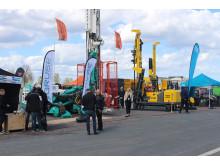 Maskiner i drift på Elmia NordDrill 2015.