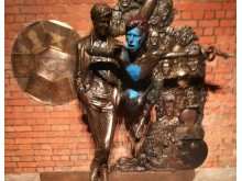 Photo of damage caused to David Bowie statue in Aylesbury