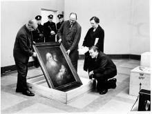 """""""Rembrand vaktas av 3 pistoler"""" 1965 Foto: Per Lindgren"""