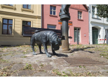 Mopsfigur von Loriot in Brandenburg/Havel