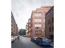 Göteborgs universitet, visionsbild, vy Johannebergsgatan.