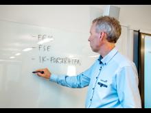 Instruktør ved smartboard