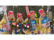 Gulljentene, stafett, VM i Holmenkollen 2016
