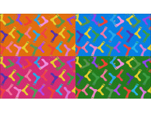 rockande sockorn mönster x4