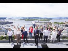 Medarbeidere feirer Norges beste arbeidsplass