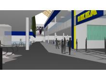 IKEA Kållered interiören mot entrén på den östra sidan