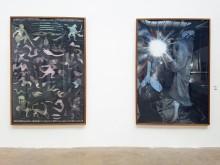 """Die Werke der diesjährigen Preisträgerin Annika Kleist: li.: """"Allover Pattern"""", 2017 und re.: """"My Heart Is A Drum - It's Beating Me Down"""", 2017"""""""
