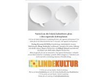 Inbjudan till samtal om regionala kulturplanen och kulturlivet i Lindesberg (jpg)
