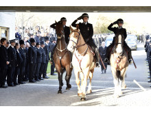 Mounted section salute for PC Dan Clayton-Drabble