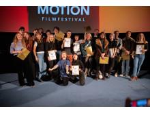 Vinnarna på STOCKmotion filmfestival 2019. Foto: Ali Quraishi.