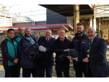Crewe uniform handover