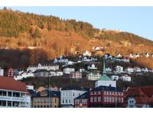 Bergen i solskinn