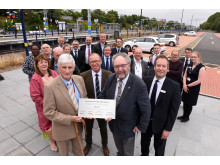 Bromsgrove electric services plaque unveiling