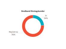 Andelen kunder om upplever att man premierar lojala kunder bredband B2B