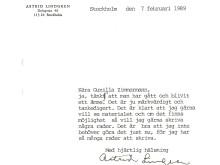 Astrid Lindgren - brev