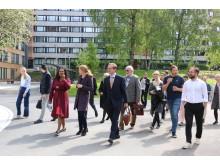 Omvisning på nye uteområder Kringsjå Studentby