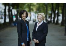 Kimberly Lein-Mathisen, Microsoft Norge, og Åshild Larsen, Equinor