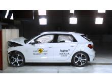 Audi A1 frontal full width impact 2019