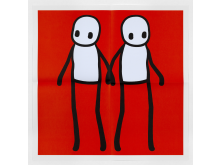 STIK - Holding Hands Poster (Red)