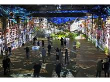 "Blick in die Videoinstallation ""Hundertwasser Experience"" 1"