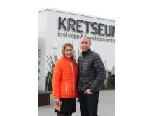 Mattias Klum, vattenambassadör och Amanda Haux, pedagog Kretseum