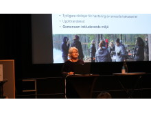 Ann Dolling från SLU talade om deras arbete mot bland annat sexuella trakasserier.