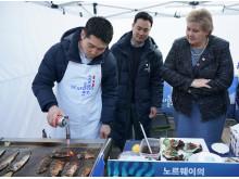 Statsminister Erna Solberg i Korea
