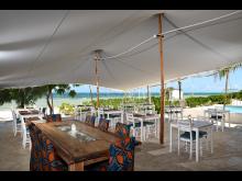 Sansibar Hotel Sharazad Oasis_Blick Restaurant auf Meer