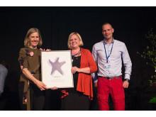 2017 års vattenpris Sjöstjärnan gick till Västerviks kommun
