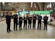 Umrahmung der feierlichen Zugtaufe mit Chorstücken von Clara Schumann durch das Ensemble Quartal
