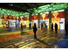 "Blick in die Videoinstallation ""Hundertwasser Experience"" 2"