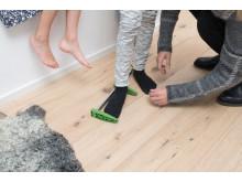 Mäta barnfötter