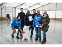 Bei der Pressekonferenz zur Eröffnung des Stadtwerke Eisfestivals 2019/20