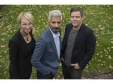 Jessica Ziegerer, Hussein El-Alawi och Jens Mikkelsen, nominerade i kategorin Årets Berättare 2018