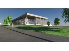 Rendering of office and laboratory building for Jowat GmbH, Detmold