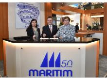 Offizielle Vertragsunterzeichnung  am Maritim Stand  ITB Berlin.
