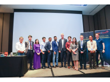 Speakers, sponsors and hosts.