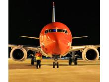 Norwegians LN-NGH netop ankommet første gang til Gardermoen fra Seattle