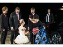 Kronprinsparrets ankomst til Musikteatret Holstebro
