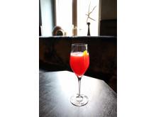 Mocktail med hallon från Gotthards krog