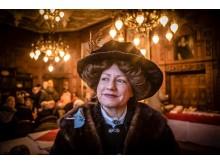Blanche Dickson alias Ulla Sandin har minglat med besökarna