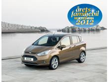 Nya Ford B-MAX utsedd till Årets Familjebil 2012 - Ford vinner prestigefylld utmärkelse för andra året i rad