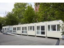 Mobile Sanitätsstation Außenansicht I Algeco