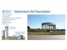 Snabbfakta om nya vattentornet