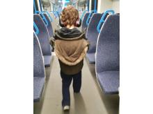 On Thameslink train in depot