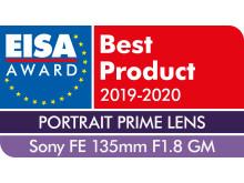 EISA Award Sony FE 135mm F1.8 GM