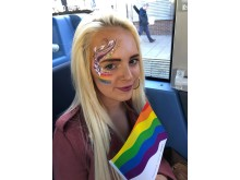 The Go North East bus played host to fun face painting.
